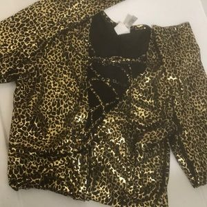Hustler Metallic Gold Body Suit Size M